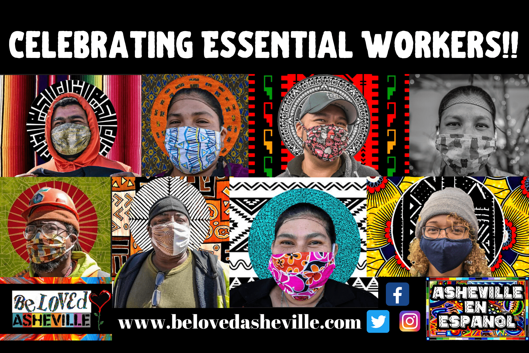 Copy of celebrating essential workers banner